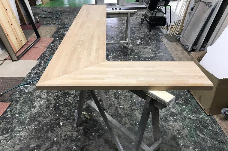 i-キッチンカウンター塗装1