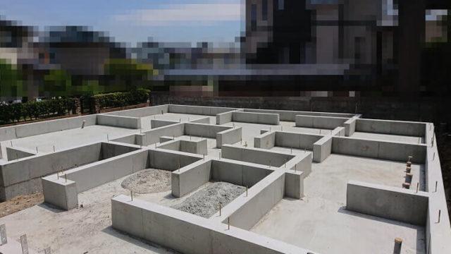 K邸の基礎工事完了