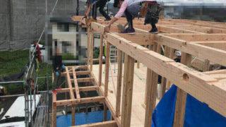 K邸の工事進歩状況