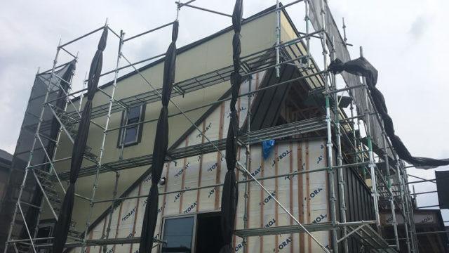 K邸の断熱材、外壁材工事