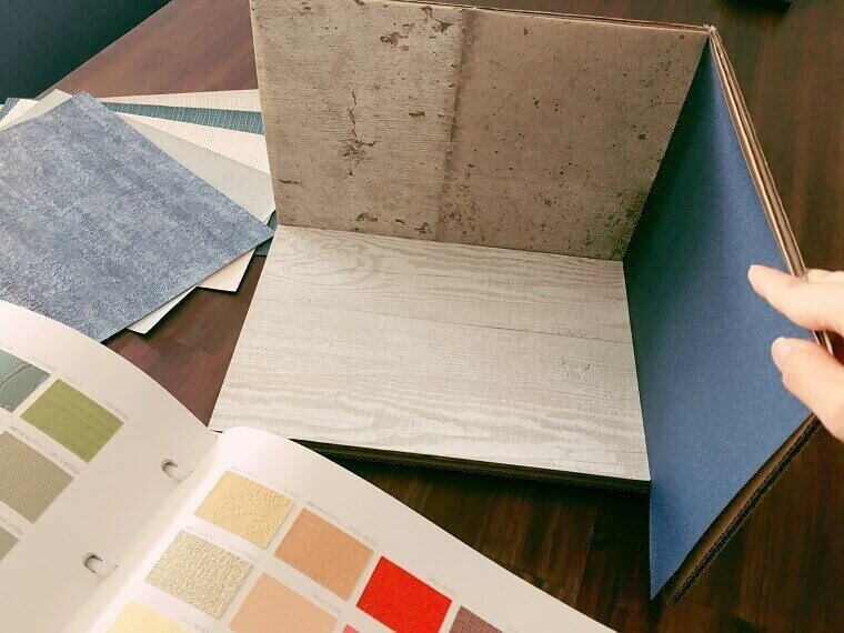 お部屋の壁紙の選定の提案