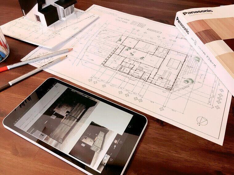 図面、模型、タブレットでプランをご提案