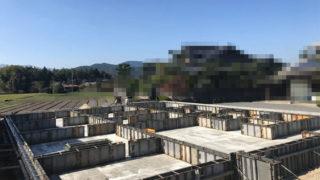 基礎工事-空を眺める家