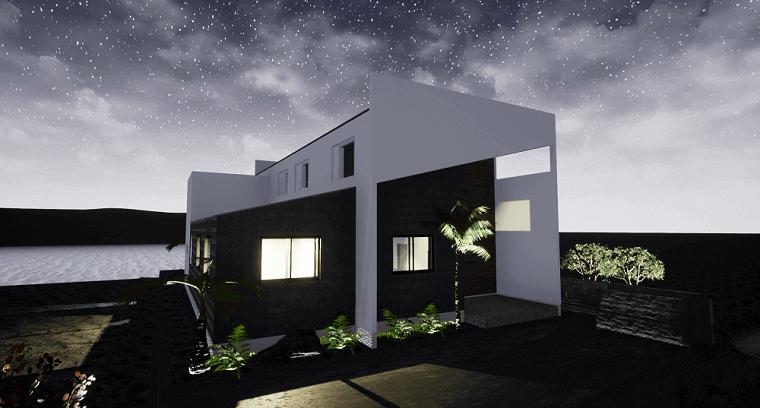 空を眺める家-外観