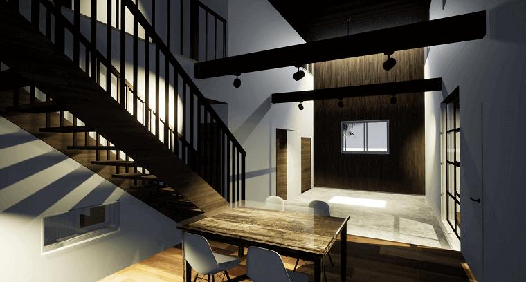 空を眺める家-エントランスホール