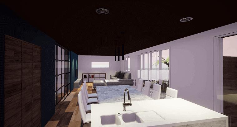 空を眺める家-完成イメージCG-LDK