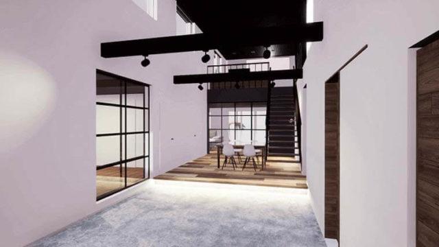 空を眺める家-完成イメージCG