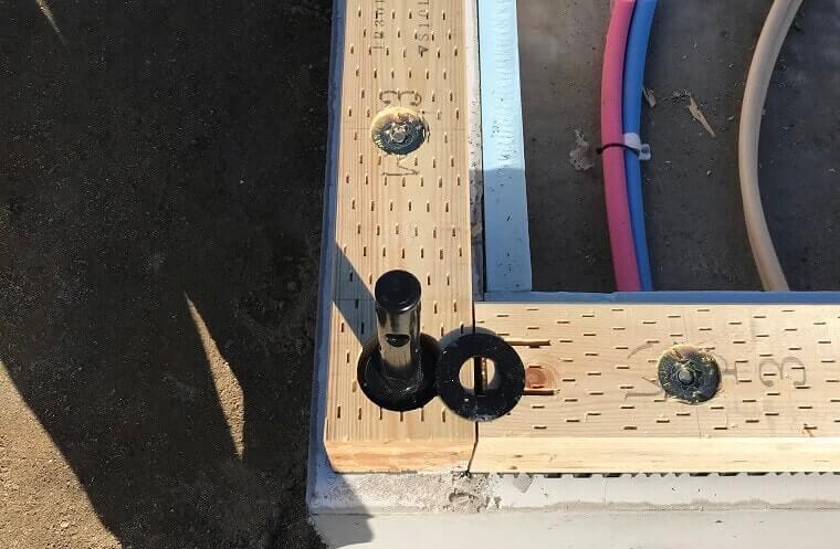 1階柱脚HSSコラム設置-土台