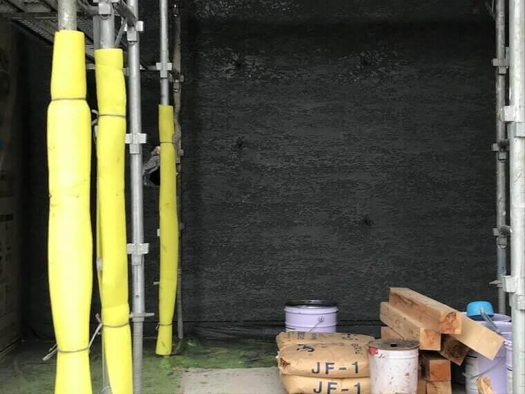 外壁モエン大壁・ジョリパット左官工事完成色