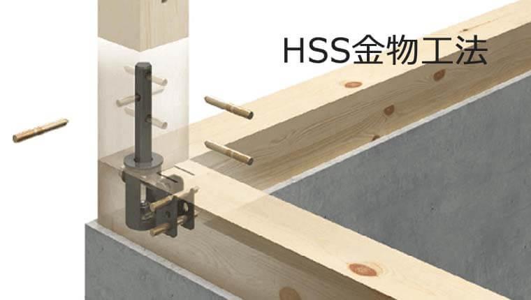 金物工法で柱脚部の強度も確保