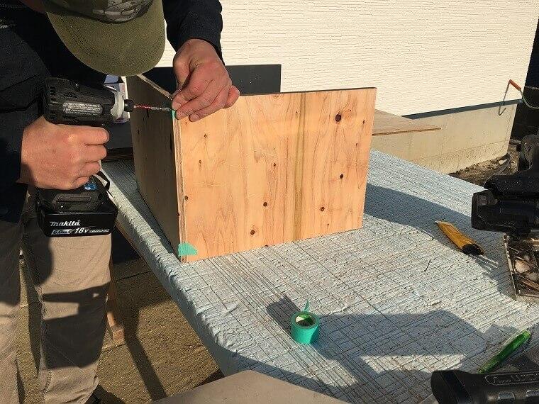 セメント鉢プランター製作工程1