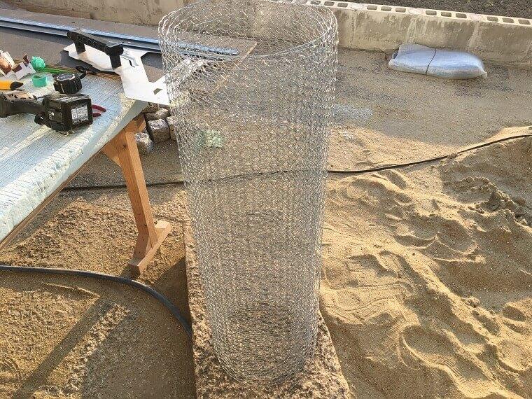 セメント鉢プランター製作工程3