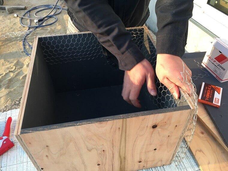 セメント鉢プランター製作工程4